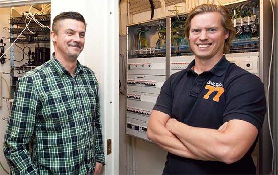 Snabba ryck när Elektroskandias nya butik och showroom byggdes