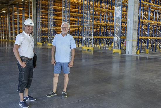 Stora mängder elmateriel till byggnationen av Rustas nya centrallager