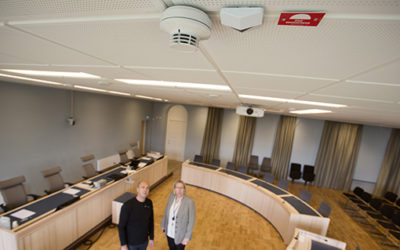 Hässleholms tingsrätt säkrar upp med brandlarmet SecuriFire
