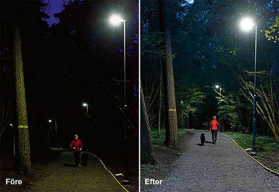 Ny belysning ger säkrare löprundor och lägre kostnader