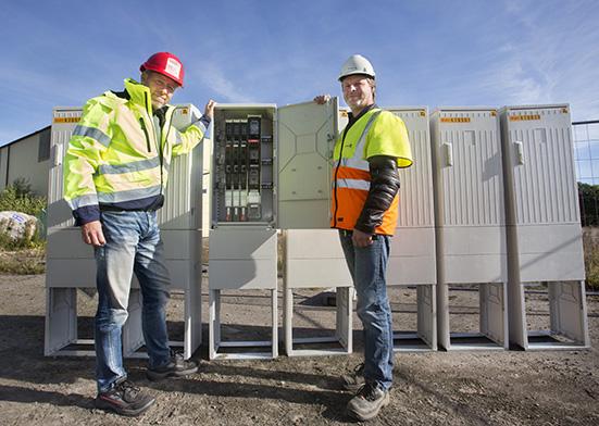 Vattenfall Services spar tid med förmonterade kabelskåp