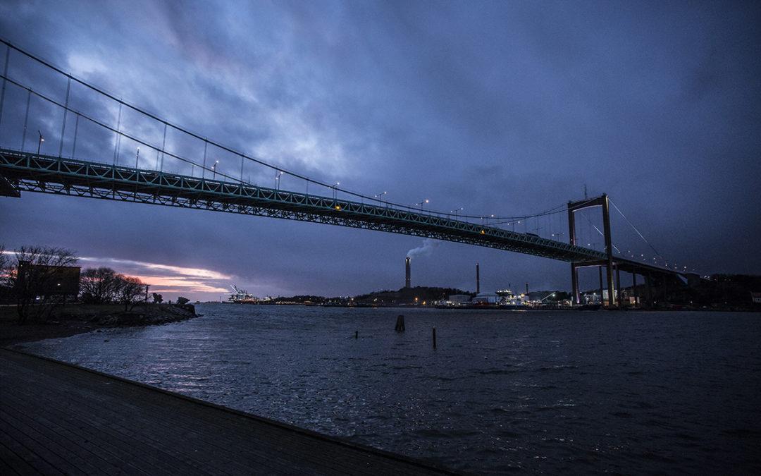 Älvsborgsbron i nytt ljus