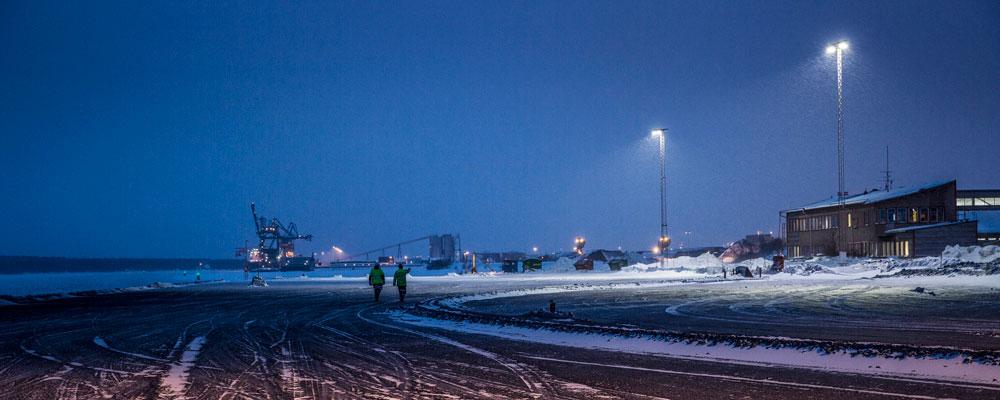 Nytt ljus över hamn i norr