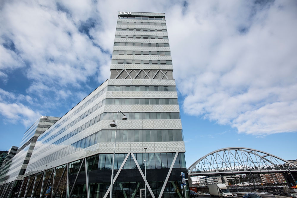 SEB:s nya huvudkontor skyddas av brandlarmet SecuriFire
