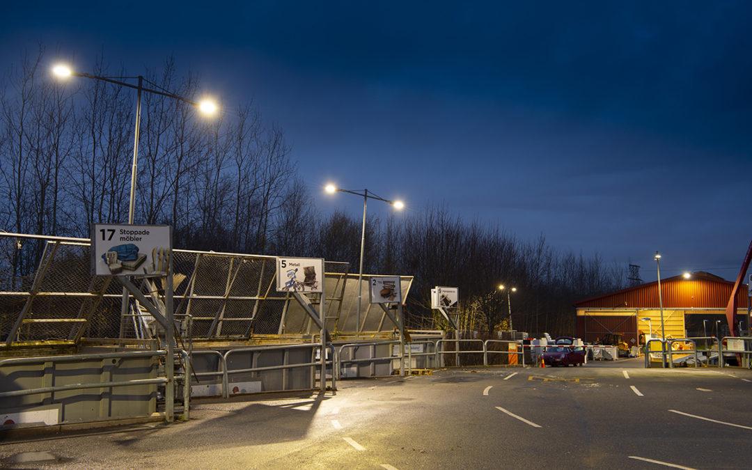 Ljusare återvinningscentraler i Göteborg