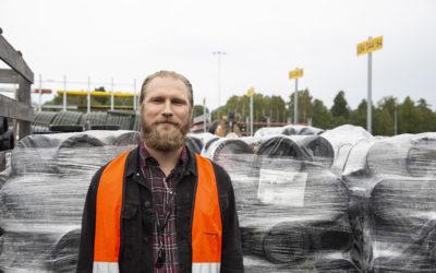 Elektroskandia lagerhåller 162 pallar kabelskyddsrör
