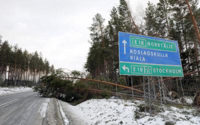 Logistiken sattes på prov efter stormen Alfrida