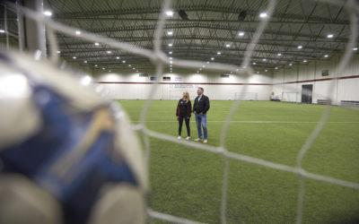 Ny belysning gav stor energibesparing för fotbollsförening