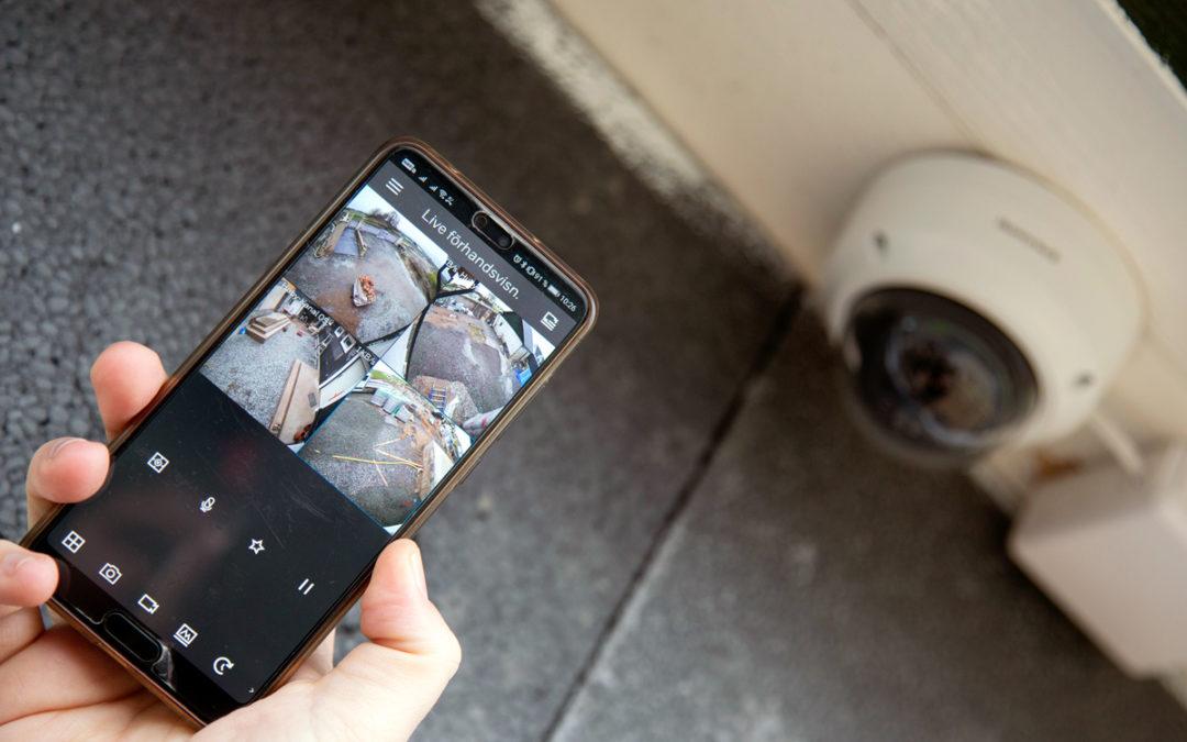 Trygghet med kameraövervakning via mobilen