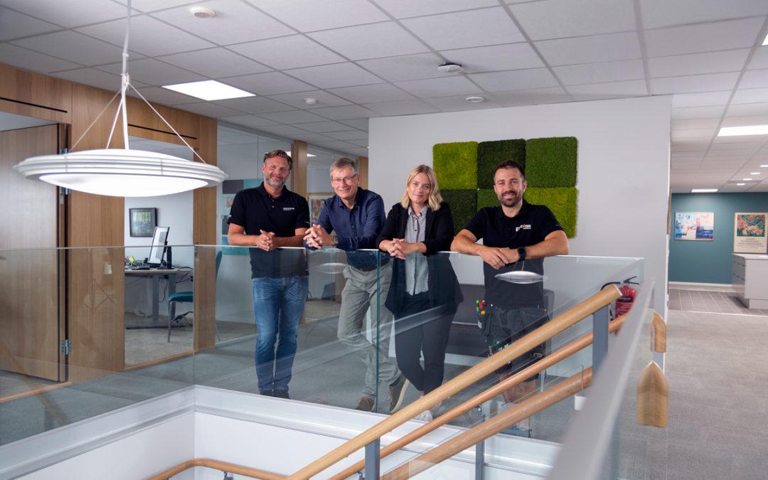 Belysning med Human Centric Lighting  ger bra arbetsmiljö på nybyggt kontor