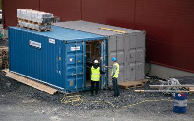 Kundunikt lager i container underlättade installation i fjällvärlden