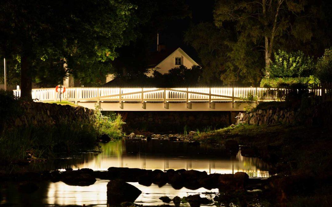 Effektfullt ljus på Madickenbron